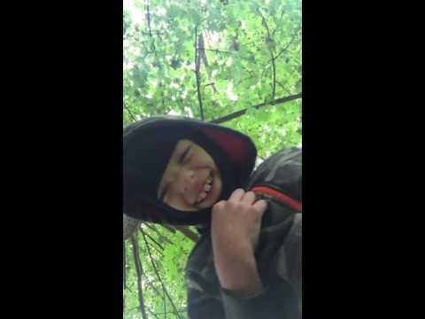 Deer Hunting in his back yard!