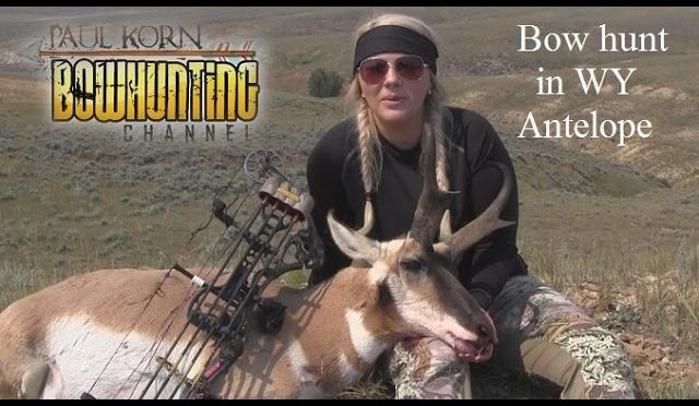 Lady Bow hunter takes Antelope in Wyoming with perfectly placed shot