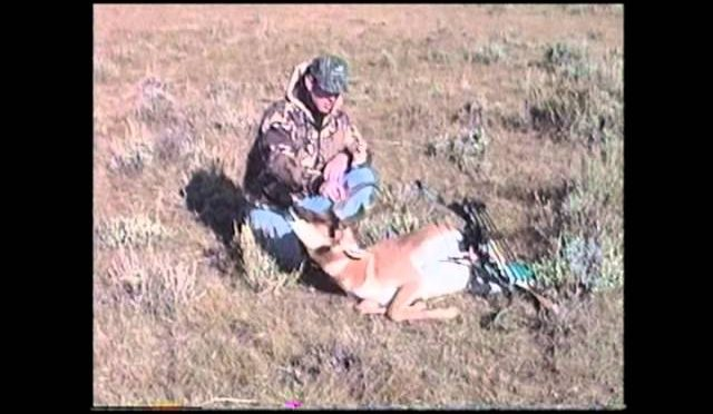 The family that hunts together stays together!  Husband/ Wife Antelope hunt from 1994