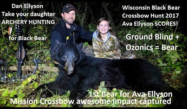 1st Archery Black Bear with Crossbow for 12 year old girl in