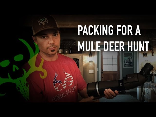 1472ff265 What to Pack for a Mule Deer Hunt | Uncut with Nick Mundt ...