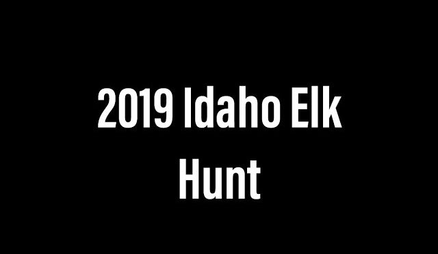 2019 Idaho Elk Hunt