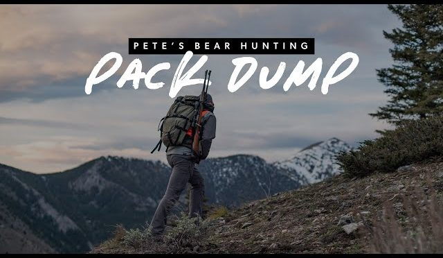 Pack Dump – Spring Bear Hunting 3 Day with SG's own Pete Muennich